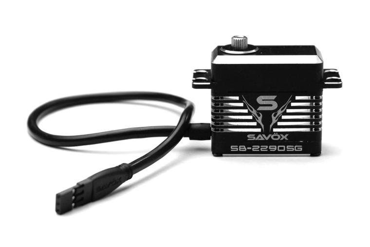 SAVOX - SB-2290SG Monster Torque Brushless Servo, BLACK EDITION .13SEC / 694.4OZ @ 7.4V  SB2290SG