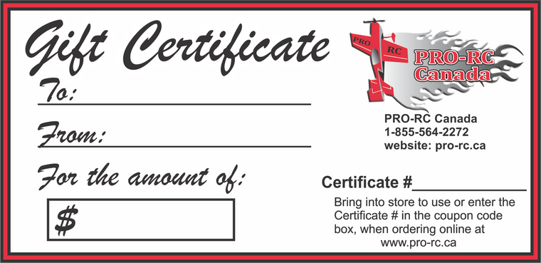 PRO RC Gift Certificate