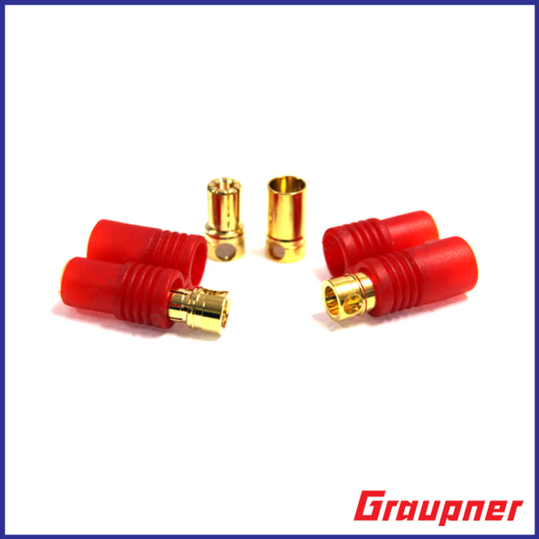 6mm  Gold Connectors 2 Pair