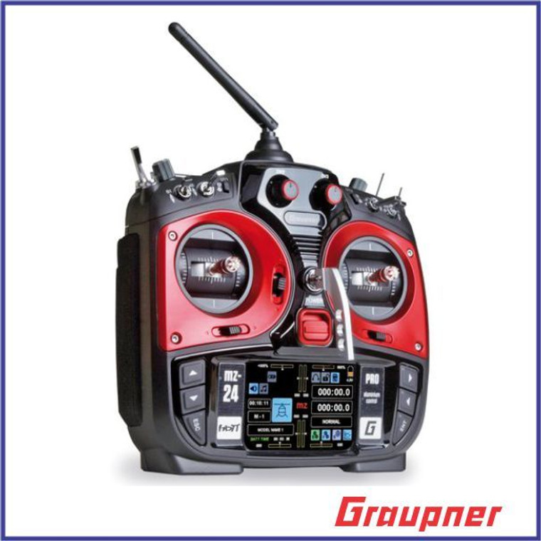 Graupner MZ-24 PRO 12 Channel 2.4G.HZ HoTT Color TFT Radio System