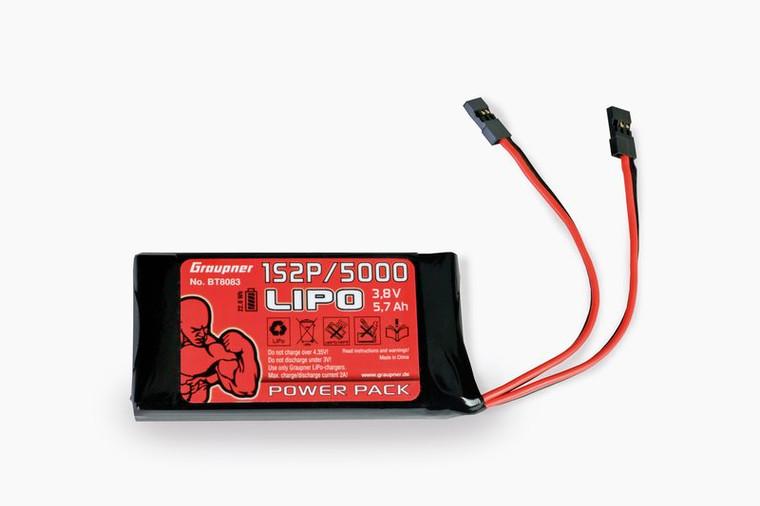 Graupner Lipo Battery 1S2P 3.7V 5000 mAh