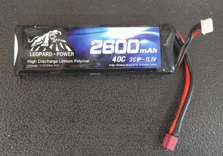 Leopard Power 2600 mAh 40C 3S 11.1v Lipo Battery