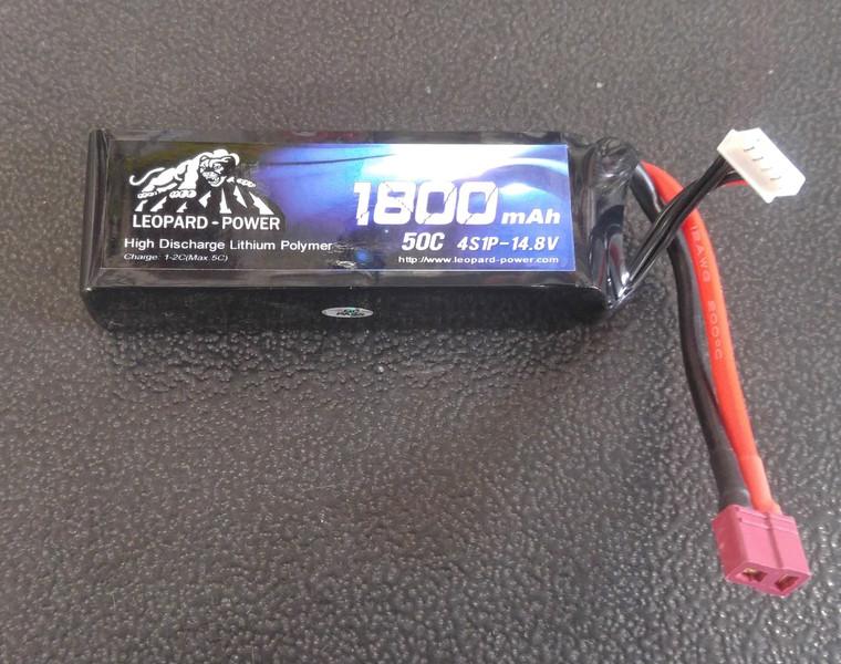 Leopard Power 1800 mAh 50C 4S 14.8v Lipo Battery