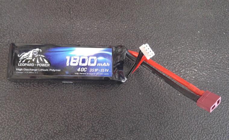Leopard Power 1800 mAh 40C 3S 11.1v Lipo Battery