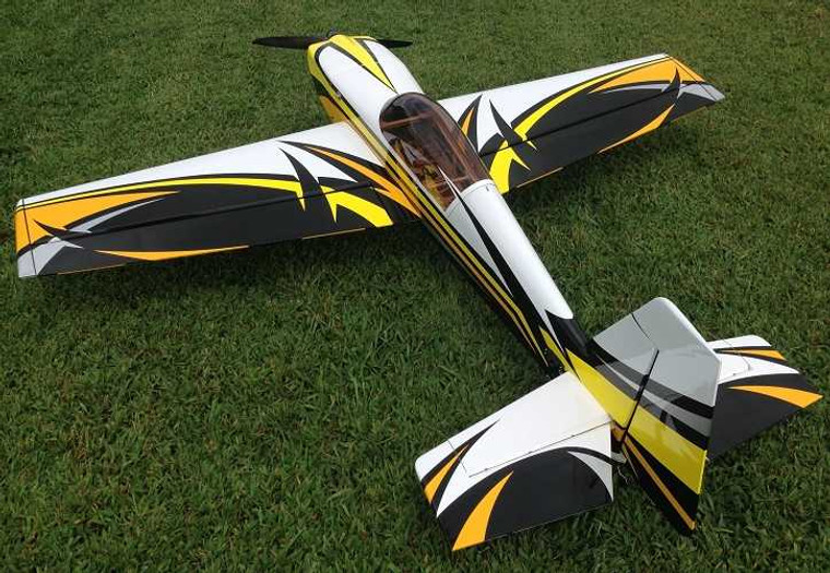 """3DHS 108"""" Extra 330LT- Black/ Yellow  (WITHOUT Spinner and Wingbag)"""