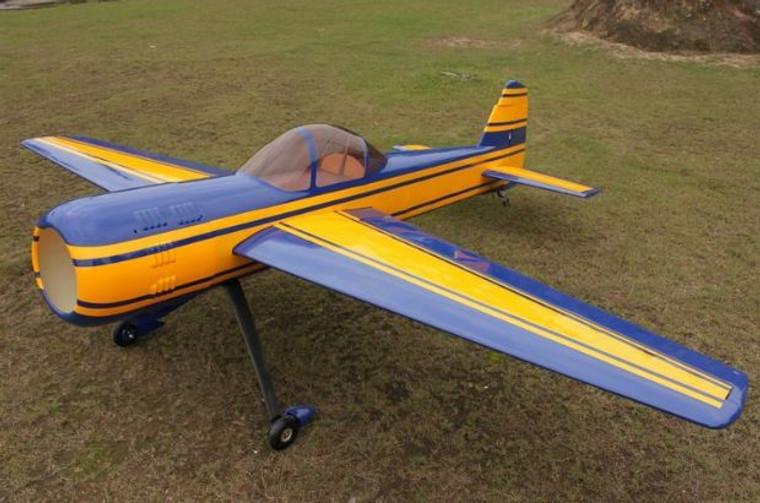 """Aeroplus 73"""" Yak 55M 30CC Rudder Only (Blue/Yellow Scheme)"""