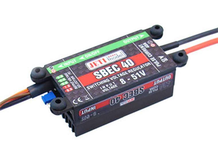 Jeti Voltage Regulator SBEC 40 5-8V/40A w/Magnetic Switch