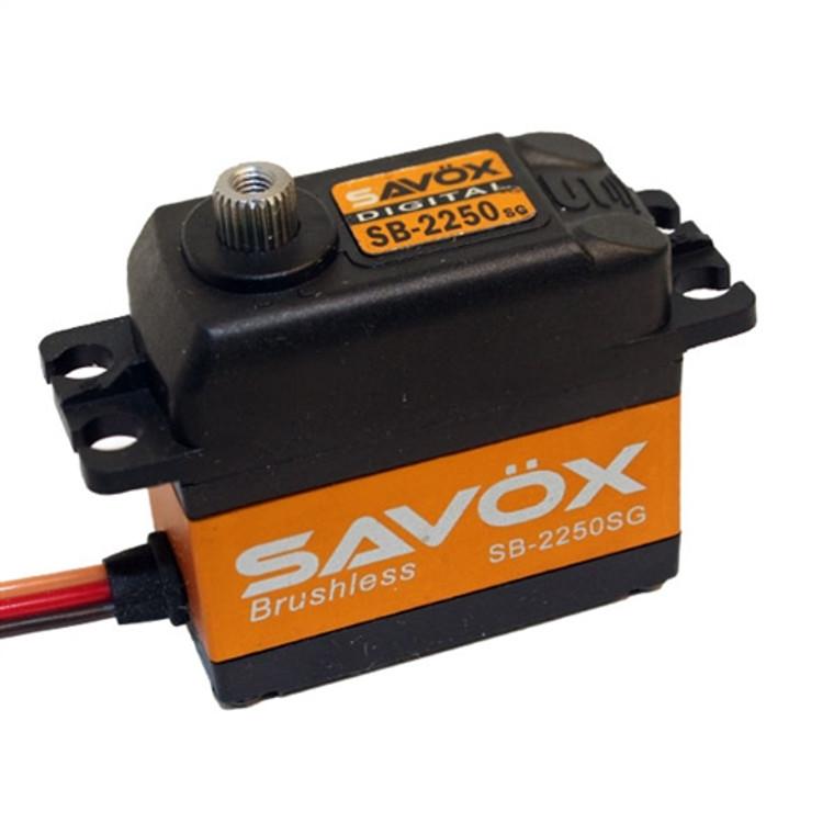 Savox SB-2250SG Giant Torque 6.0V Brushless Steel Gear Digital Servo .15/ 347