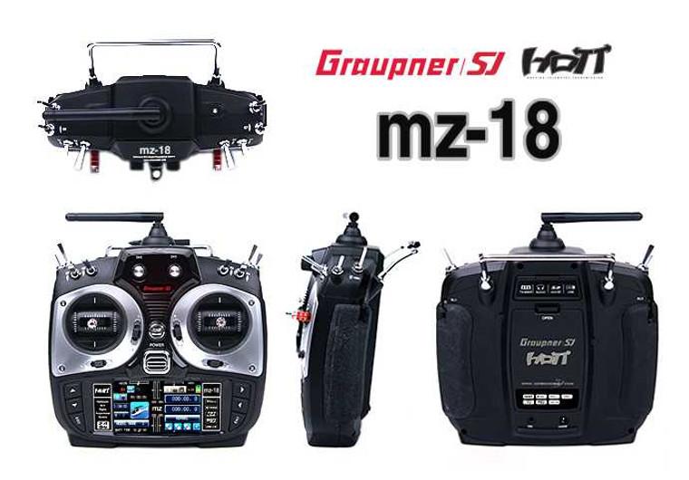 """Graupner MZ-18 9 Channel 2.4GHz HoTT 3.5"""" TFT LCD Transmitter"""