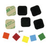 Photo #5 - Trigger Switch color swatches (orange, red, yellow, blue, green) and adhesive pads