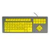 Photo #2 BigKeys LX Keyboard with yellow keys
