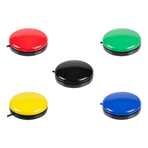 Photo #1 - Buddy Button red, green, black yellow, and blue