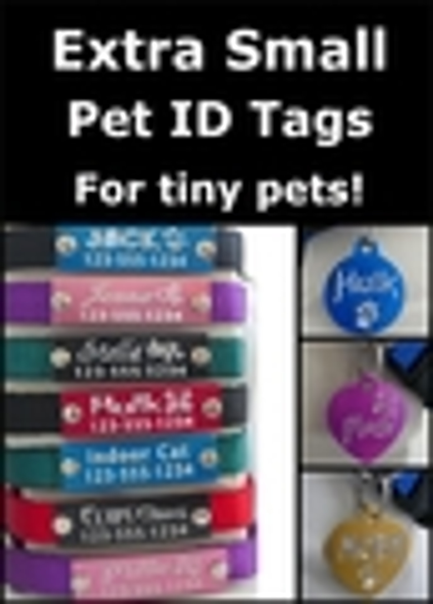 Extra Small Pet ID Tags (for tiny pets!)