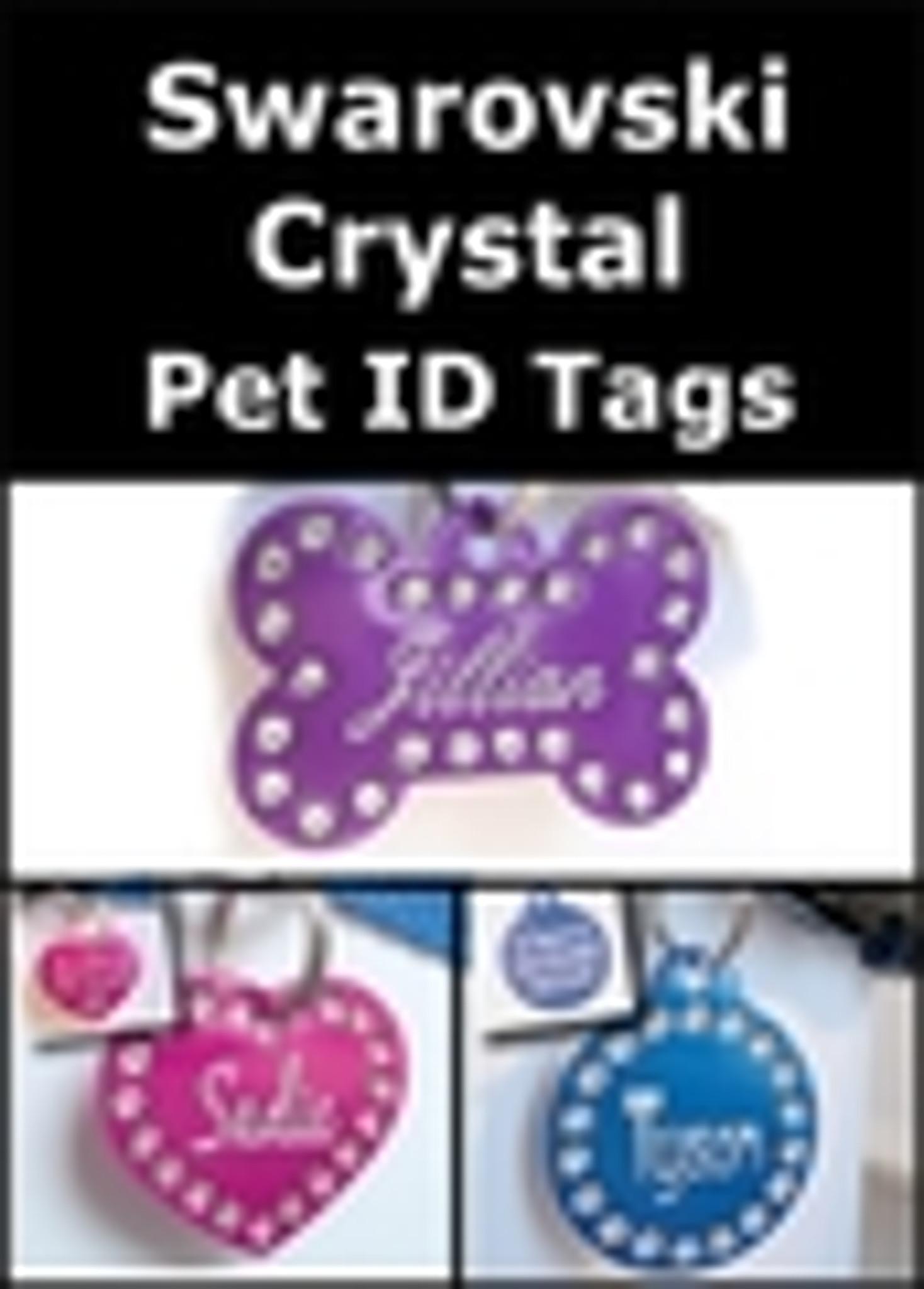 Swarovski Crystal Pet ID Tags