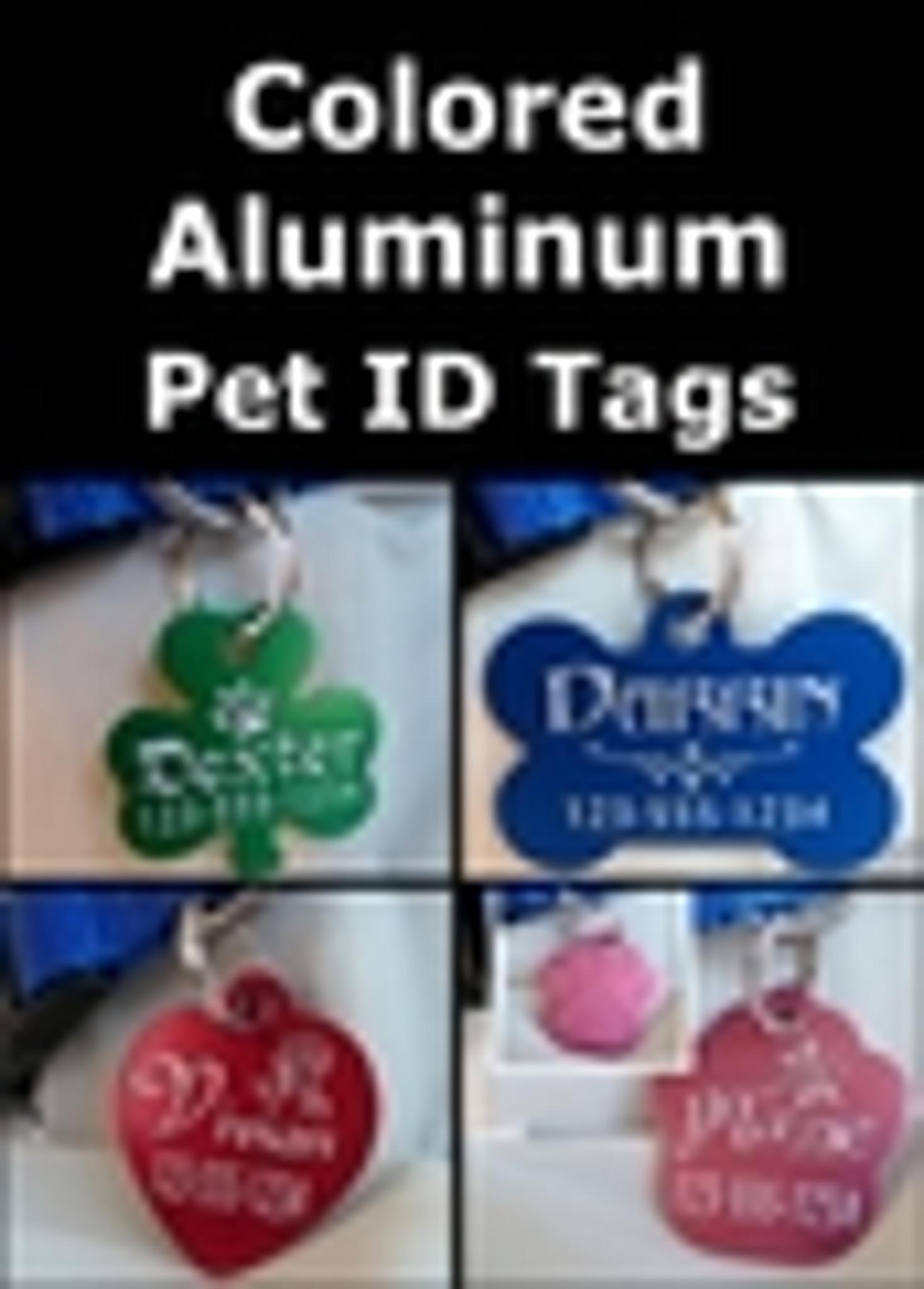 Colored Aluminum Pet ID Tags