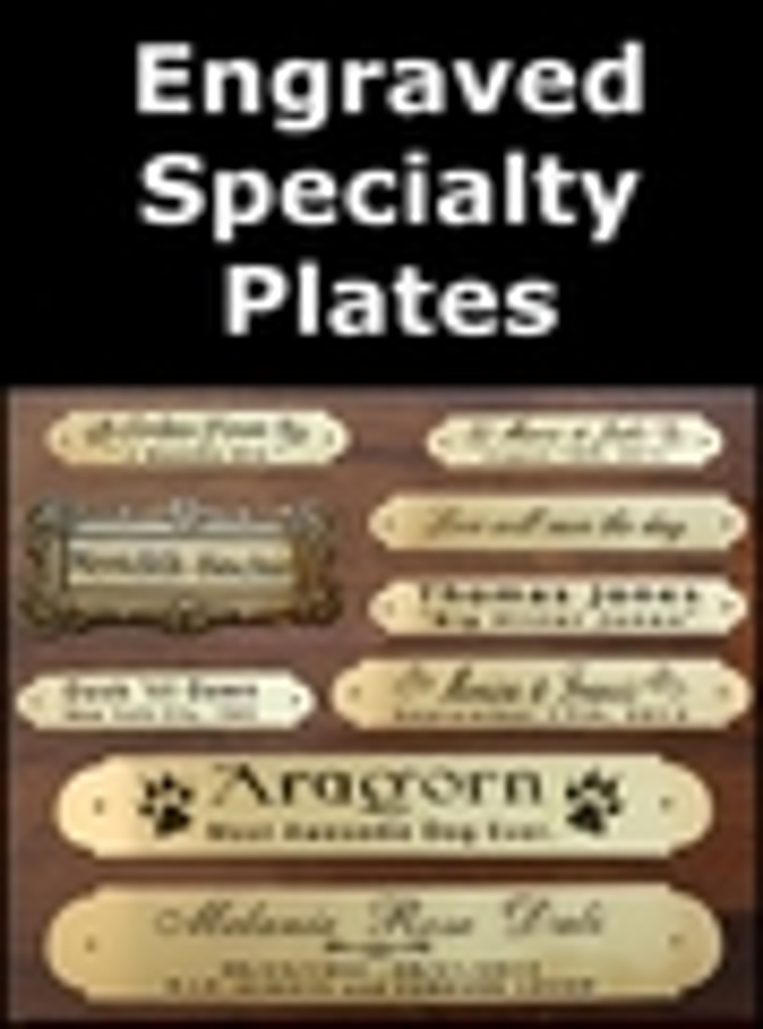 Engraved Specialty Plates