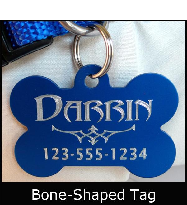 Custom Engraved Anodized Aluminum Pet Id Tag