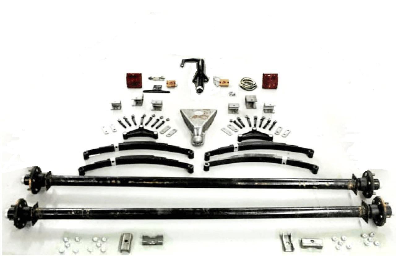 3500# Tandem Utility Trailer Parts Kit - Build Your Own Utility Trailer with Champion Trailers Complete Tandem Axle Trailer Kit