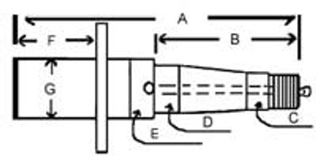 Spindle Lube Trailer Axle Diagram See Product Detail for Measurements