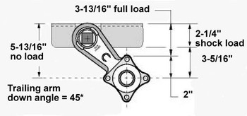3500# Eliminator Torsion Axle Arm Angle Diagram
