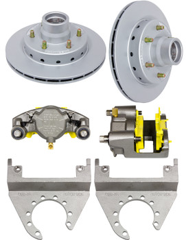 Deemaxx 6 Lug Integral Trailer Disc Brakes (1 Axle Set)