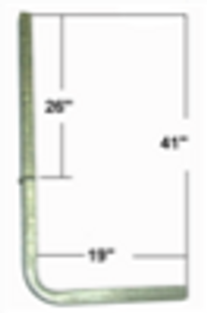 """1 1/2"""" Box Tube Guide Arm Only For PVC Guide Post Kit"""