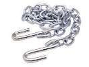 "5/16 X 52"" Zinc Safety Chain With Hooks"