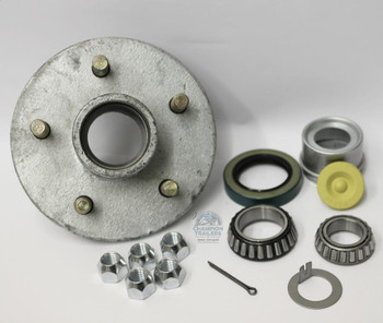 1-3/8 x 1-1/16 Galvanized Hub with Upgrade to Spindle Lube Cap