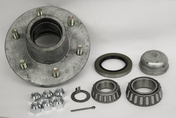 6 Lug Galvanized Trailer  Hub 25580/15123