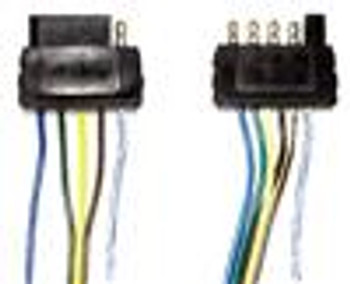 5 Pole Flat 25' Male Trailer Side Wiring Harness
