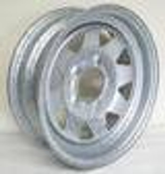 "13"" 4 lug on 4 Lug Galvanized Spoke Trailer Rim)"