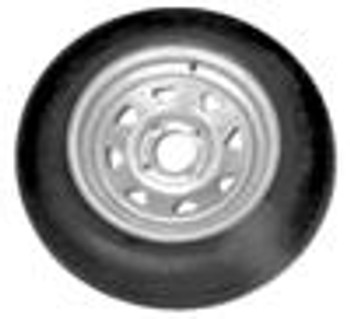 ST17580D13 LRC Tire on 4 lug Galvanized Trailer Rim