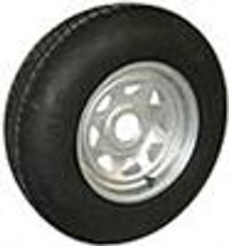 ST20575D14 LRC Tire On 5 on 4.5 Galvanized Trailer Rim