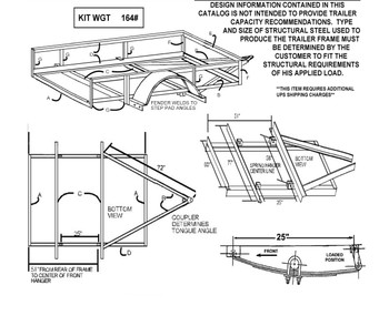 Single Axle Trailer Parts Kit Diagram
