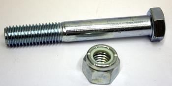9/16'' x  3-1/2'' Grade 5 Zinc Spring Bolt with Locknut