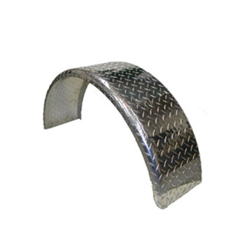 Single Aluminum Round Fender - 31x15x9
