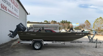New Aluminum Trailer for a G3 1866 Flat Boat (Boat not for sale)