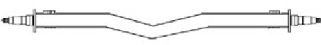 "Galvanized 3500# 2x3 Straight V Saddle Axle, Hub Face 61"" to 89"""""