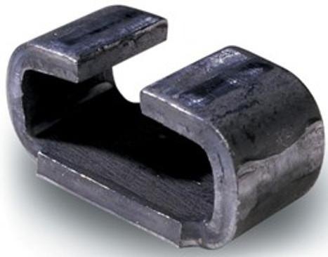 Rear Slipper Spring Hanger in Black Iron