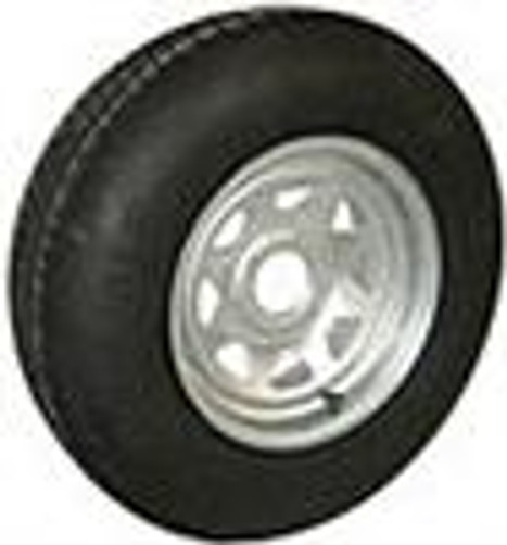 480x12  LRB Tire on 5 on 4.5 Galvanized Trailer Rim