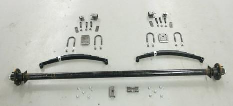 "73"" 3500# Single  Axle Undercarriage  Kit"