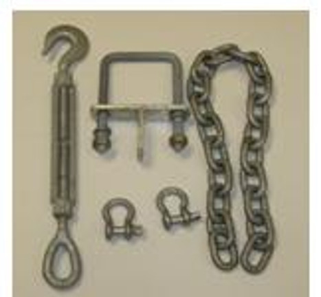 """1/2"""" Bow Eye Tiedown Turnbuckle Kit To Fit 3x4"""