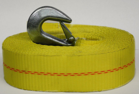 """Trailer Winch Strap - 2"""" wide x 20' Long  10,000 lbs Capacity"""