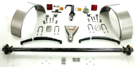 "73"" 3500# Single Axle Trailer Parts Kit"