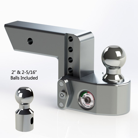 """Weigh Safe 2.5"""" Adjustable Hitch with Max Drop at 4"""""""