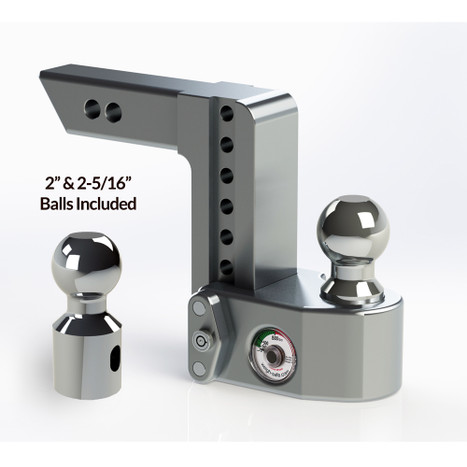 """Weigh Safe 2"""" Adjustable Hitch with Max Drop at 6"""""""