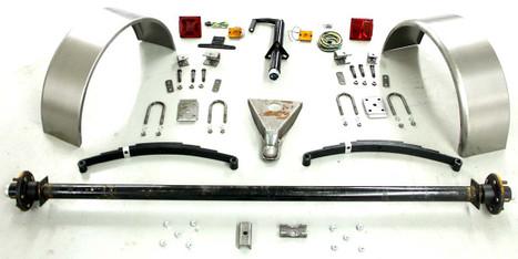 """73"""" 6,000# Single Axle Trailer Parts Kit"""