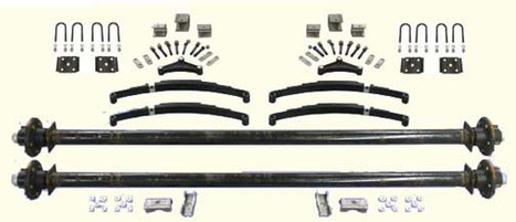 """89"""" Tandem Utility Trailer Undercarriage Kit- 6,000 Axles"""