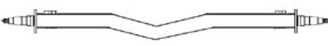 "Galvanized 3500# 2x2 Straight V Saddle Axle, Hub Face 61"" to 89"""""