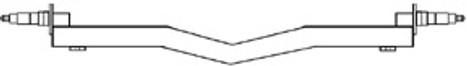 "Galvanized 3500# 2x2 Drop V Saddle Axle, Hub Face 61"" to 89"""""""